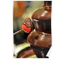 Chocolate Strawberry Fondue Poster