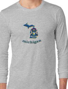 michigan state flag Long Sleeve T-Shirt