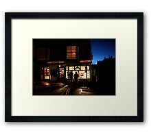 Simon the pie mans shop  Framed Print