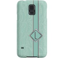 1920s Blue Deco Swing with Monogram letter L Samsung Galaxy Case/Skin