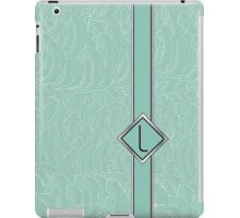 1920s Blue Deco Swing with Monogram letter L iPad Case/Skin