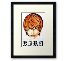 Kira - Death Note Framed Print