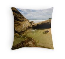 Miami Rock Pools Throw Pillow