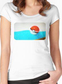 Forgotten Pokeball Women's Fitted Scoop T-Shirt