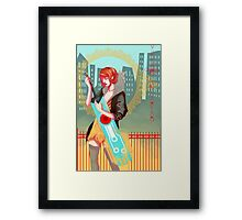 Red and Sword Framed Print