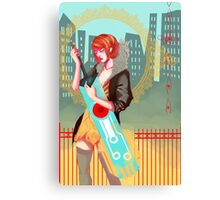 Red and Sword Canvas Print