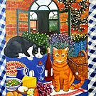 Al Fresco Cats by Anni Morris
