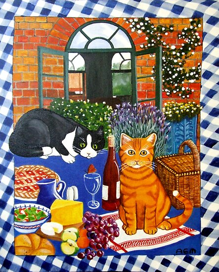 Al Fresco Cats by Anni Morris