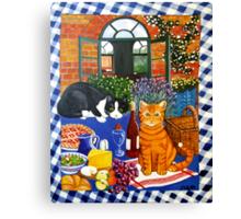 Al Fresco Cats Canvas Print