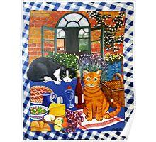 Al Fresco Cats Poster