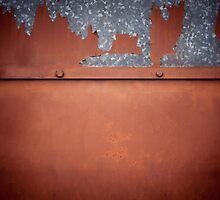 Rusty old metal wall abstract by Arletta Cwalina