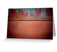 Rusty old metal wall abstract Greeting Card