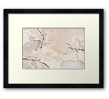 Old cracked paint texture broken wall  Framed Print