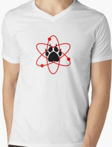 Carl Grimes Bear Paw and Atom (Red) T-Shirt - Comics Mens V-Neck T-Shirt