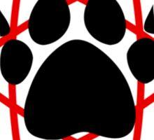 Carl Grimes Bear Paw and Atom (Red) T-Shirt - Comics Sticker