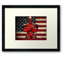 Deadpool for President Framed Print