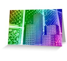 City of a clear moon. Greeting Card