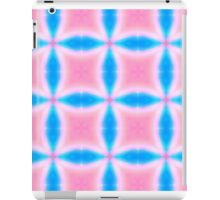 Abstract Pattern of Pink and Blue Squares iPad Case/Skin
