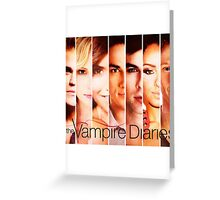 The Vampire Diaries Cast Greeting Card