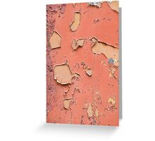 Brown old obsolete cracked paint texture Greeting Card