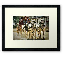 Stagecoach Ride Framed Print