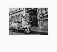 Black and White Motorbike Outside Sorrento Shop Unisex T-Shirt