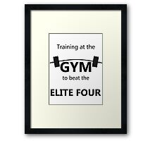 Elite Four Gym Shirt Framed Print