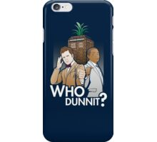 Who Dunnit? Psych Doctor Who iPhone Case/Skin