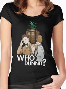 Who Dunnit? Psych Doctor Who Women's Fitted Scoop T-Shirt
