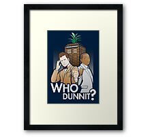 Who Dunnit? Psych Doctor Who Framed Print
