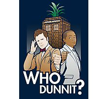 Who Dunnit? Psych Doctor Who Photographic Print