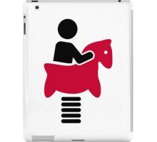 Swing horse iPad Case/Skin