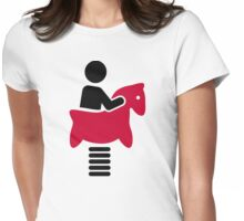 Swing horse Womens Fitted T-Shirt