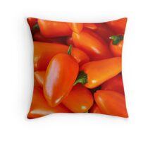 hot peppers Throw Pillow