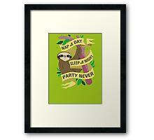 Wise Sloth Framed Print