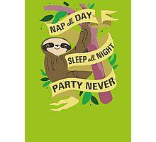 Wise Sloth Photographic Print