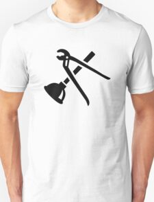 Crossed plumber tools Unisex T-Shirt