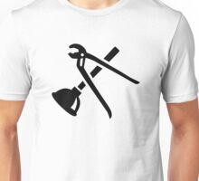 Crossed plumber tools Unisex T-Shirt