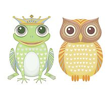 Frog & Owl by Jean Gregory  Evans