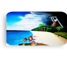 Link's Awakening Washed Ashore  Canvas Print