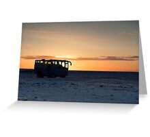 Sunrise in Iceland Greeting Card