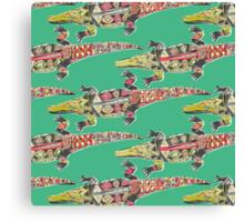 crocodile green Canvas Print