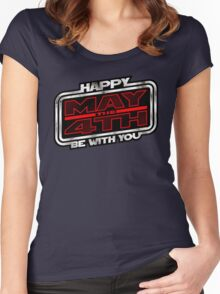 Happy May the 4th! (Slanted) Women's Fitted Scoop T-Shirt