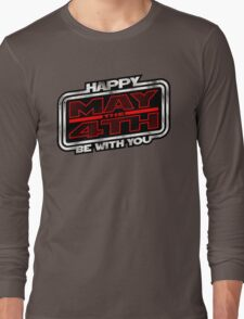 Happy May the 4th! (Slanted) Long Sleeve T-Shirt
