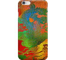 """ The powerful dragon does not manage to overcome the local tyrant"" iPhone Case/Skin"