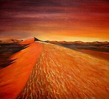 sand dune Sunrise by robmac
