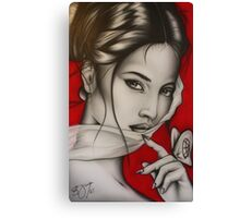 Lady Red Canvas Print