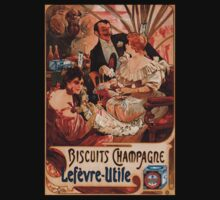 Biscuits Lefevre-Utile 2' by Alphonse Mucha (Reproduction). T-Shirt