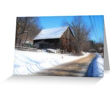 The Barn at Roper Farm: Roper Rd Westminster MA Orton Greeting Card