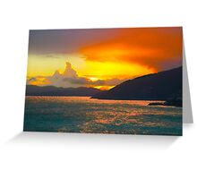 ST LUCCIA SUNSET (CARD) Greeting Card